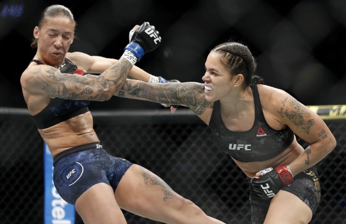 Nunes at her UFC 245 win over Germaine De Randamie.