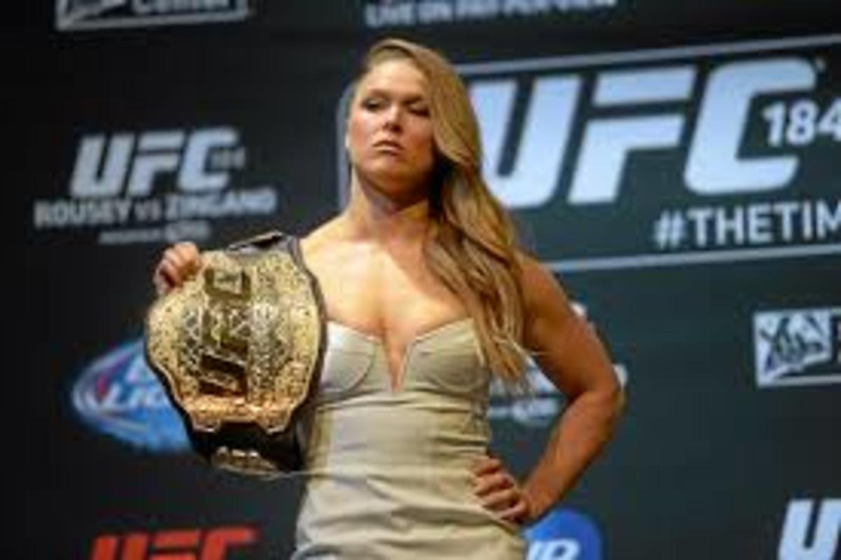 Rousey before her UFC 184 bout against Cat Zingano.