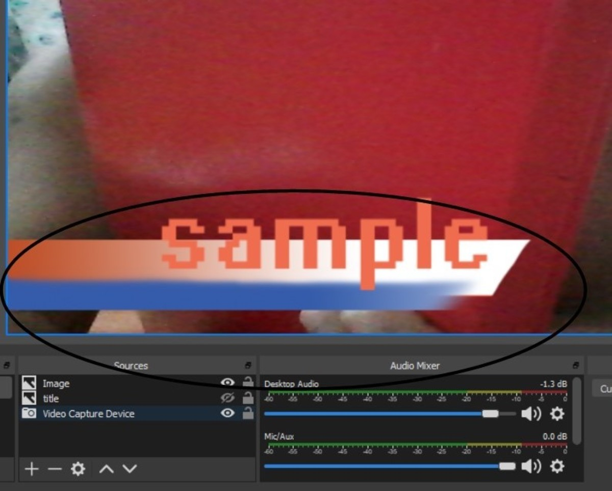 Sample in OBS Studio.  You can see the images behind the transparent background.