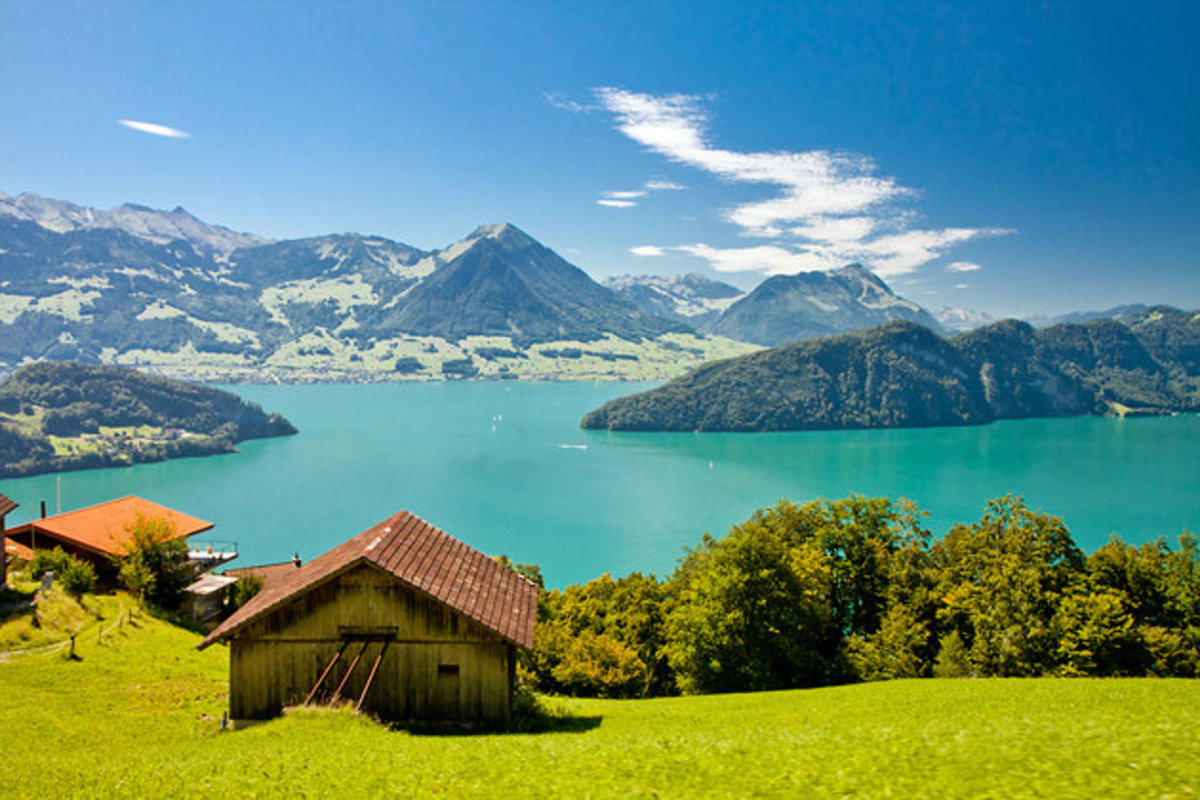 View from Rigi, Lake Lucerne