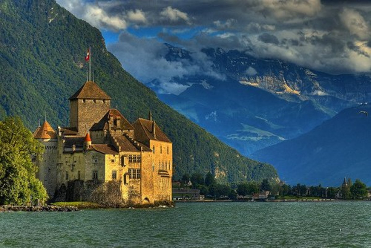 Castle of Chillon or Chateau de Chillon, Montreux
