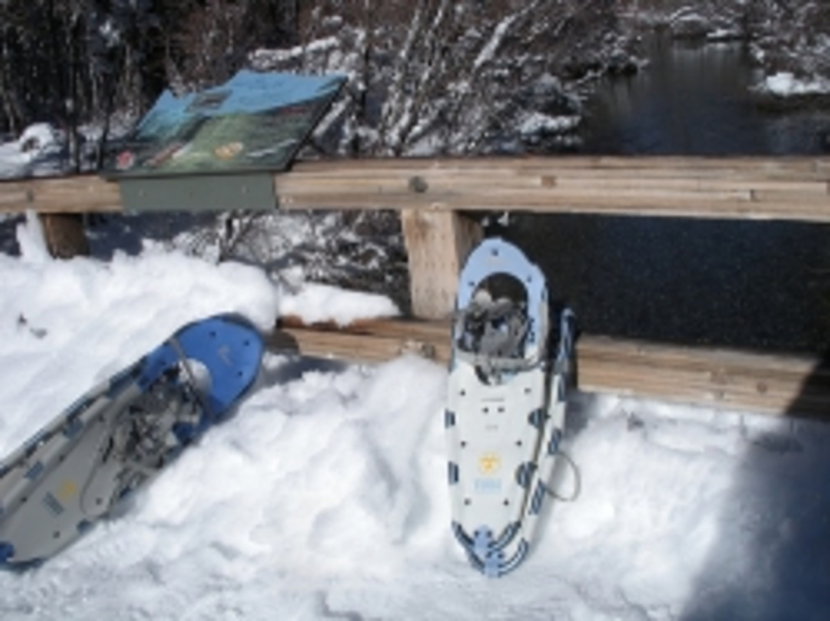 Snow shoes for winter hiking