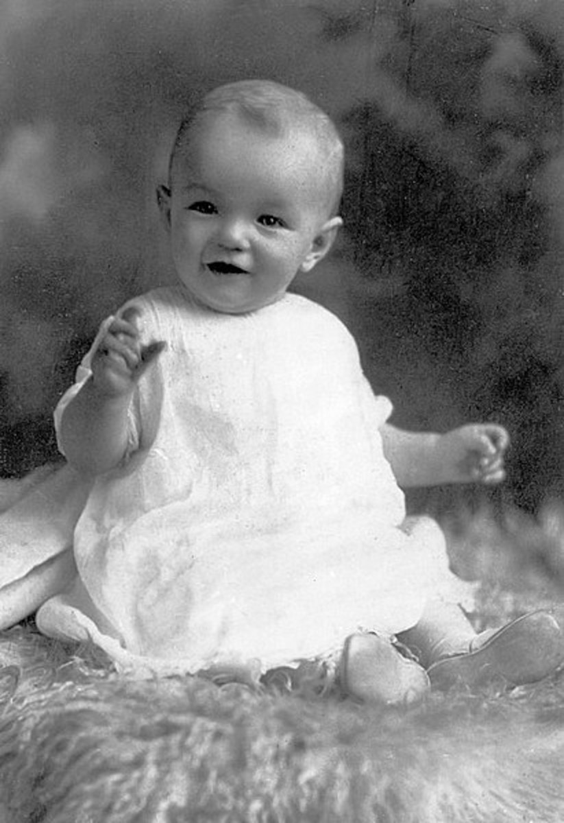 A baby Norma-Jeane 1926.