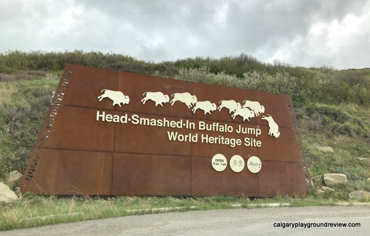 Sign for Head-Smashed-In Buffalo Jump