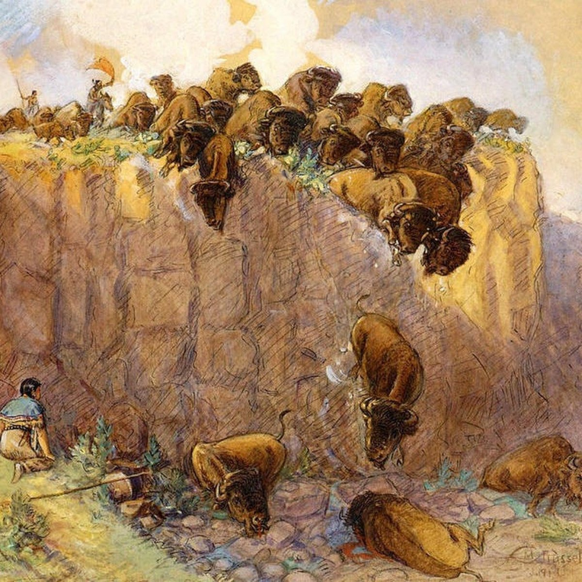 Buffalo Jumps: The Plunge of Death