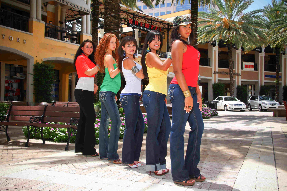 Jeans to fit the curves of the female body.