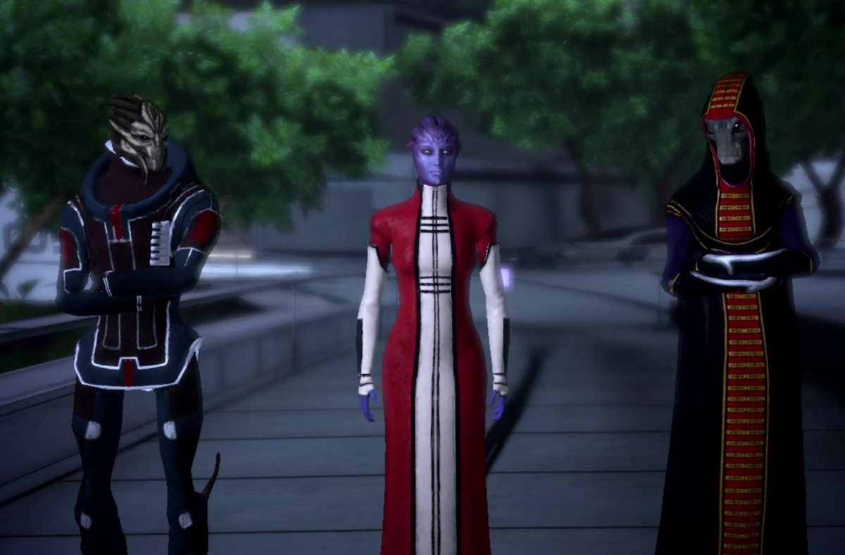 """The Citadel Council in """"Mass Effect."""""""