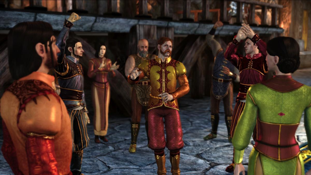 "The landsmeet in ""Dragon Age: Origins."""