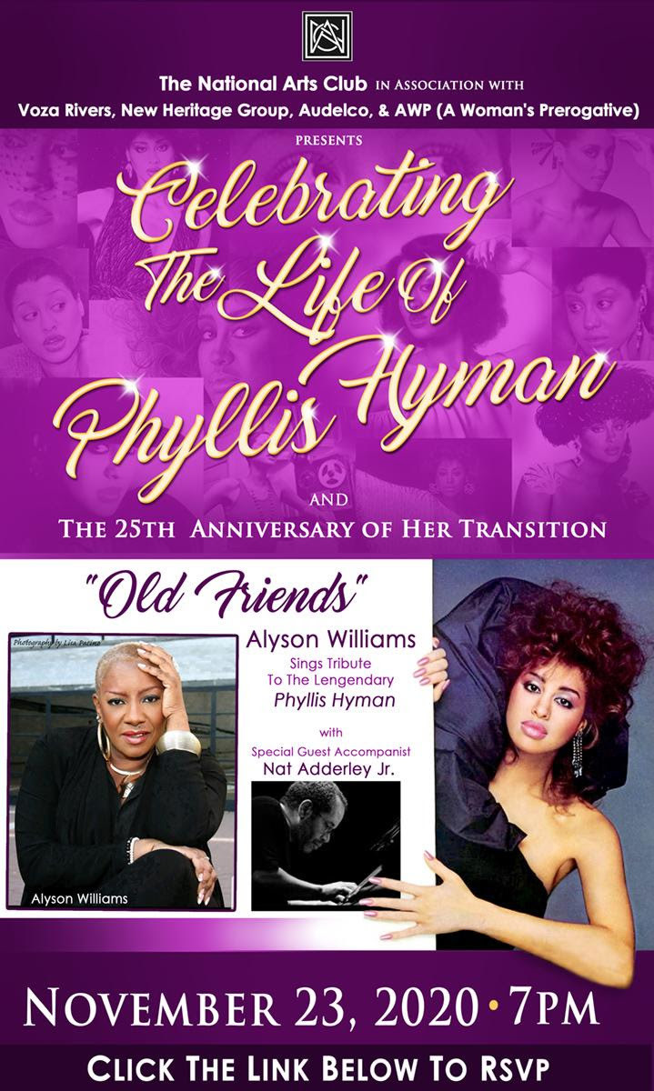 Alyson pays tribute to her friend, the late Phyllis Hyman.
