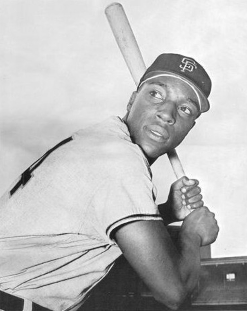 A young Willie McCovey is seen toward the beginning of his career in the early 1960s. He remained a potent power hitter all throughout the '70s.