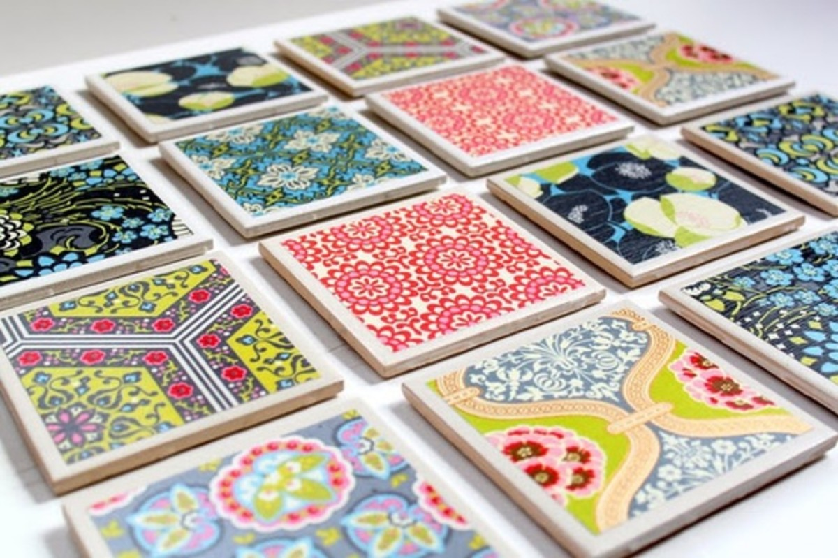 Tile Coasters DIY