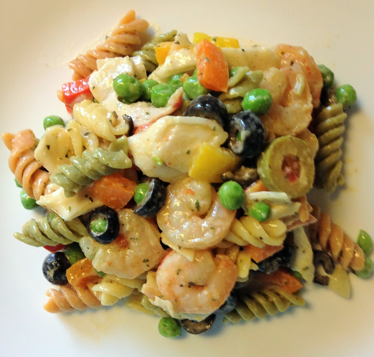 Optional Seafood Pasta Salad is an easy main dish to throw together.
