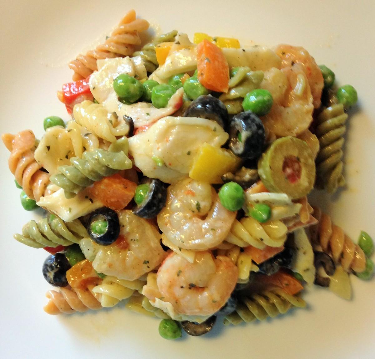 Recipe for Optional Seafood Pasta Salad