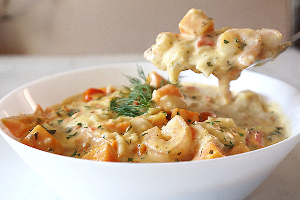 Seafood and Sweet Potato Chowder