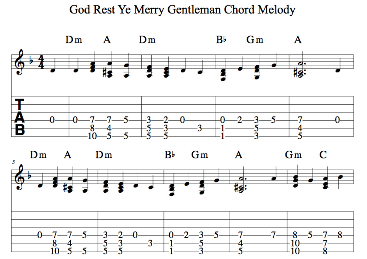 Easy Guitar Christmas Songs—God Rest Ye Merry Gentlemen—Chords, Strum Pattern, Guitar Duet, Chord Melody Arrangement.