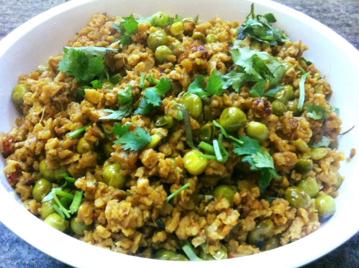 Soya Keema Masala (Soya Mince And Peas Curry)