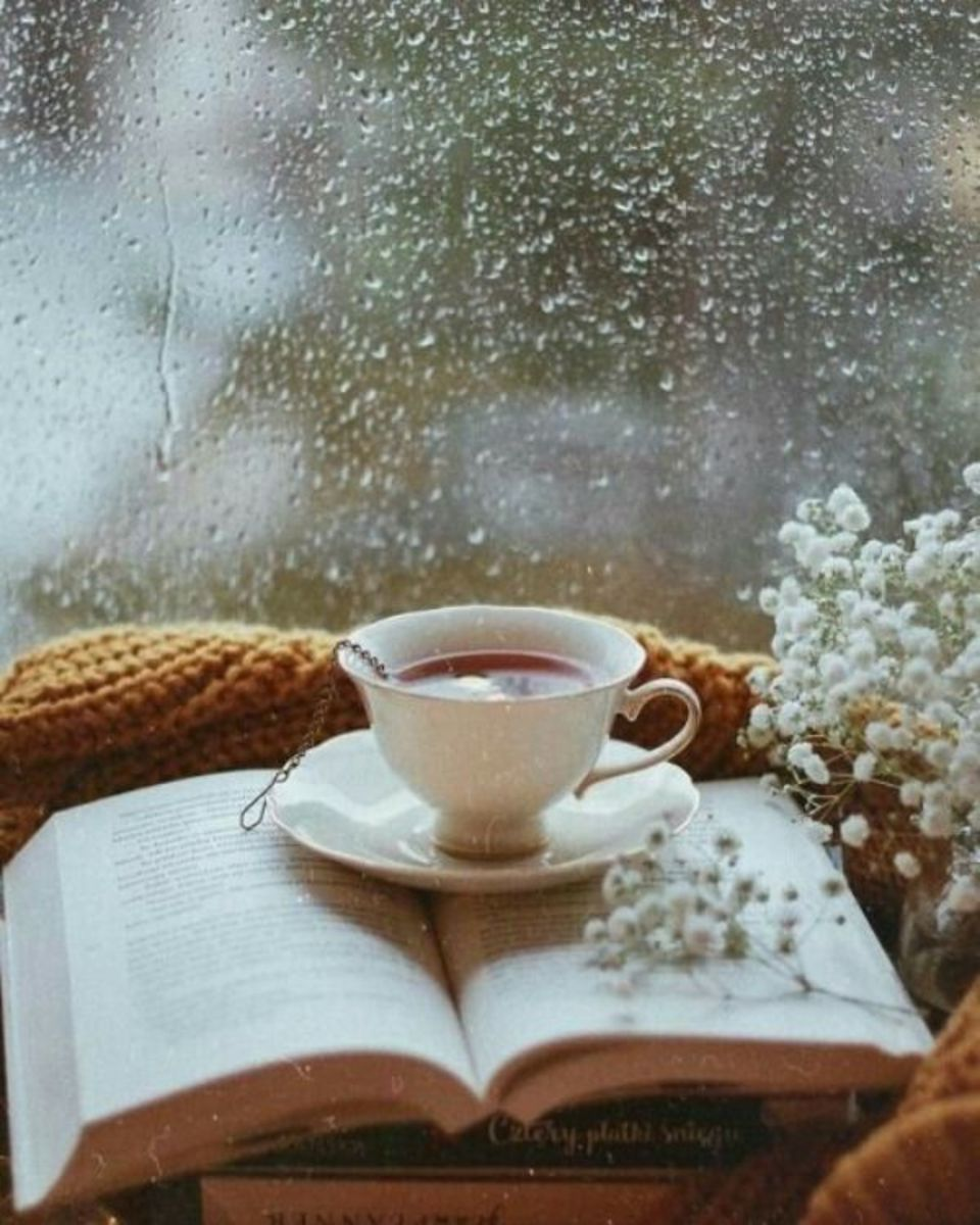 Tea time beside the rain