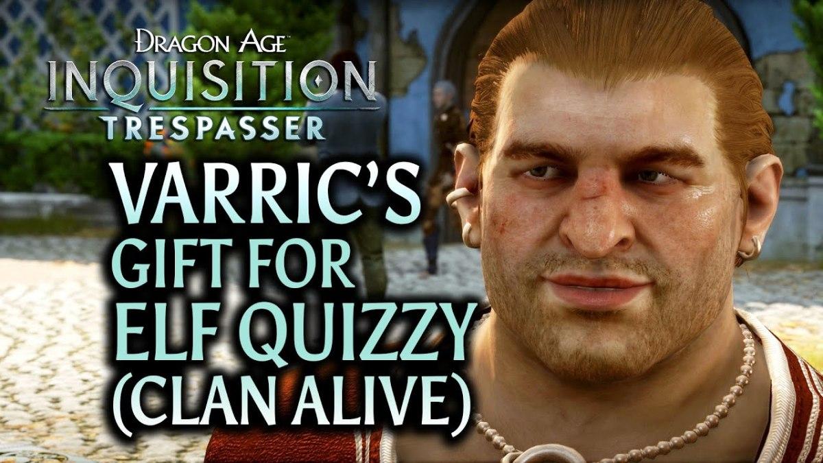 Varric helps Lavellan's clan.