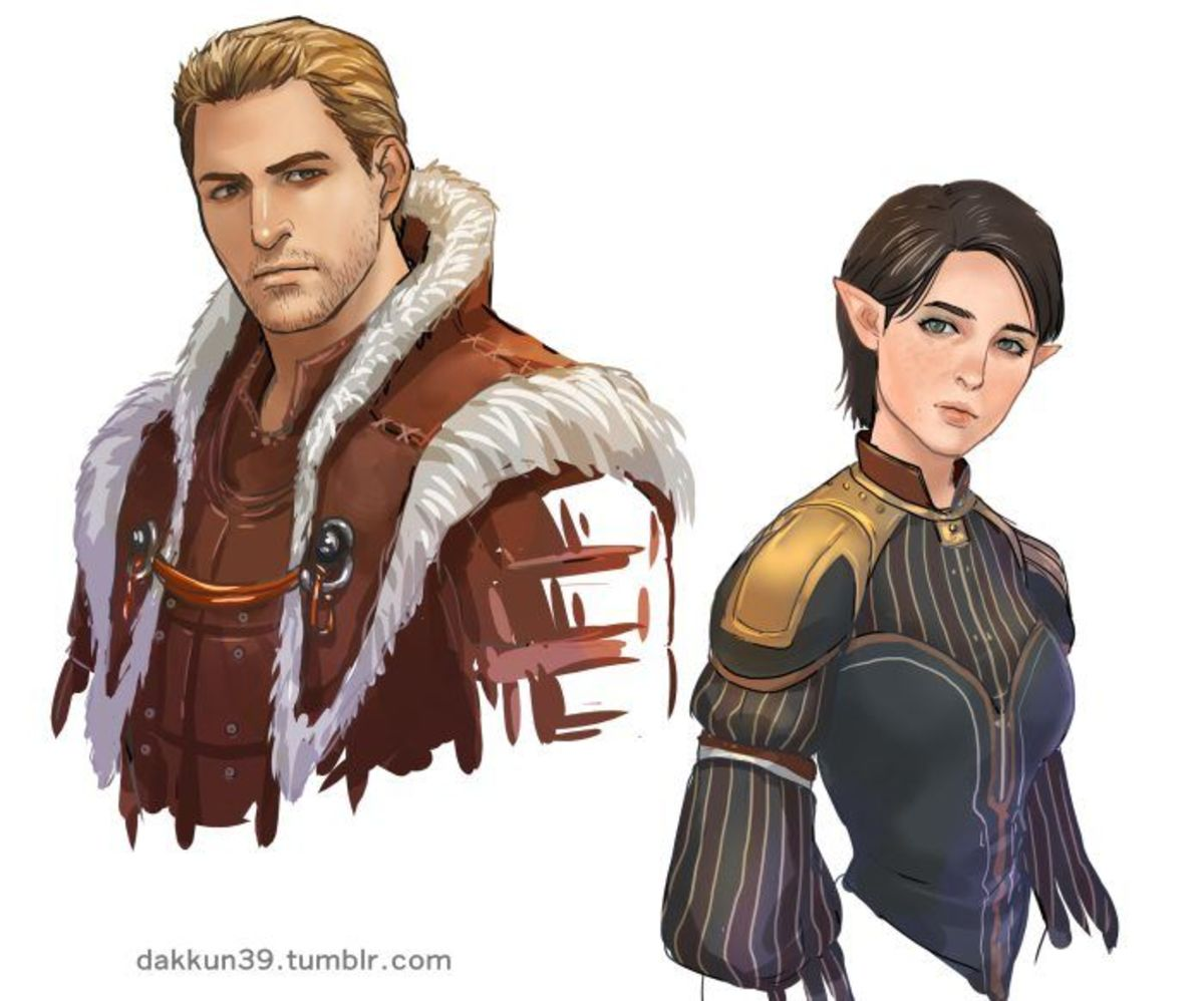 Fan art of Alistair and Fiona.