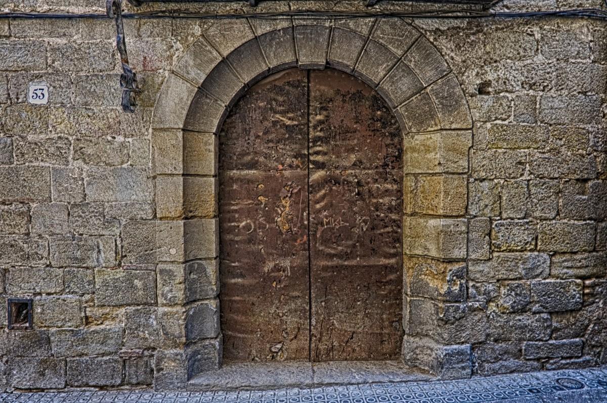 Rustic Door Stone Wall