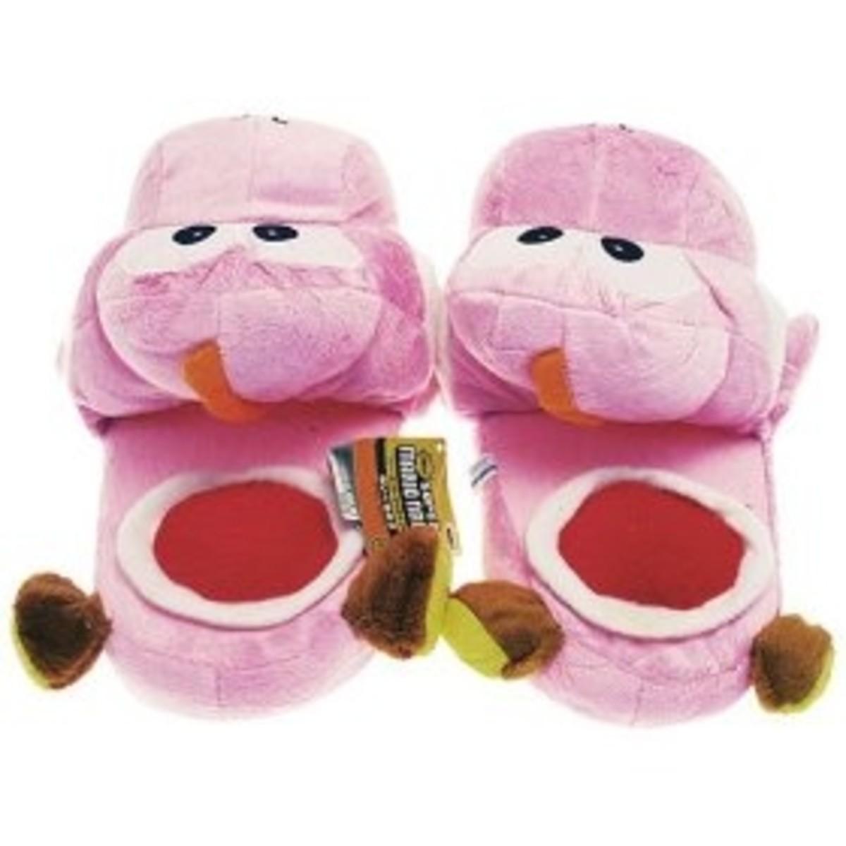 Super Mario Brothers Yoshi Pink Ver. Slippers Plush