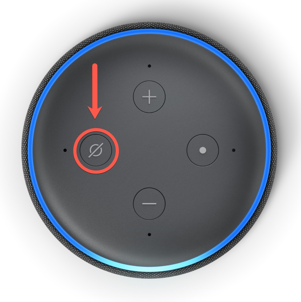 Press the mute button for the mic to stop Alexa listening to your conversations