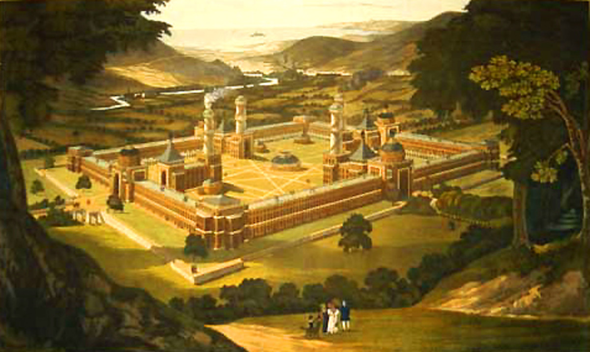UTOPIA PLANNED BY ROBERT OWEN FOR NEW HARMONY, INDIANA