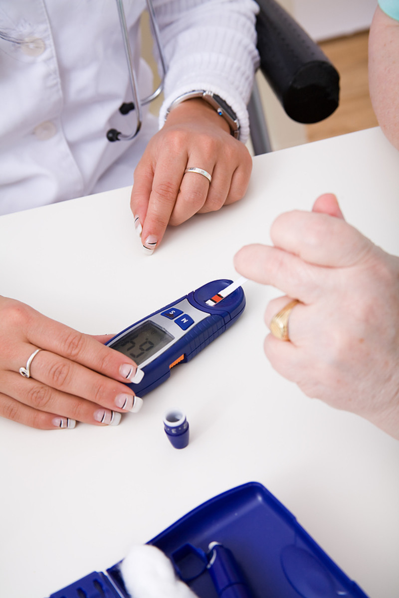 Using diabetes test strips
