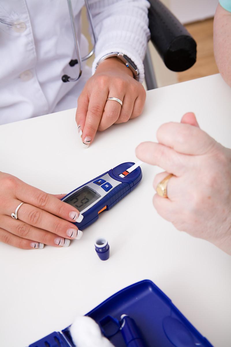 Using diabetes test strips