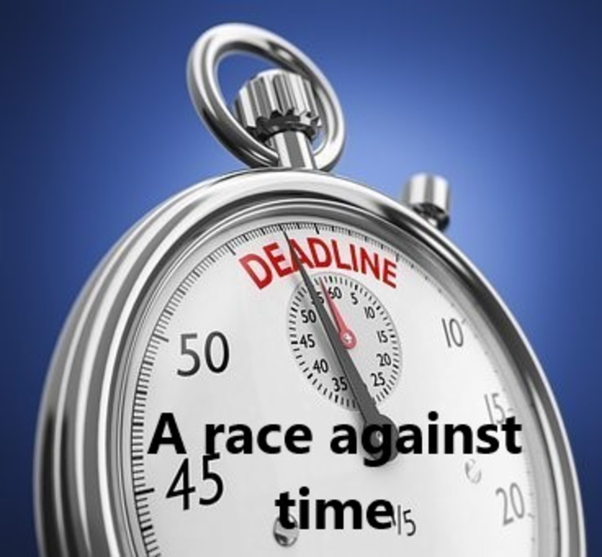 There are always times when we face a looming deadline.