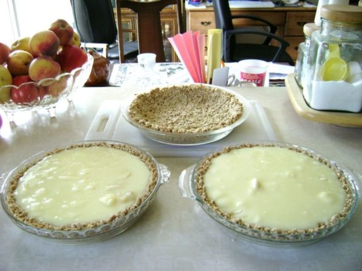 Banana Cream Pie With Oatmeal Crust Recipe