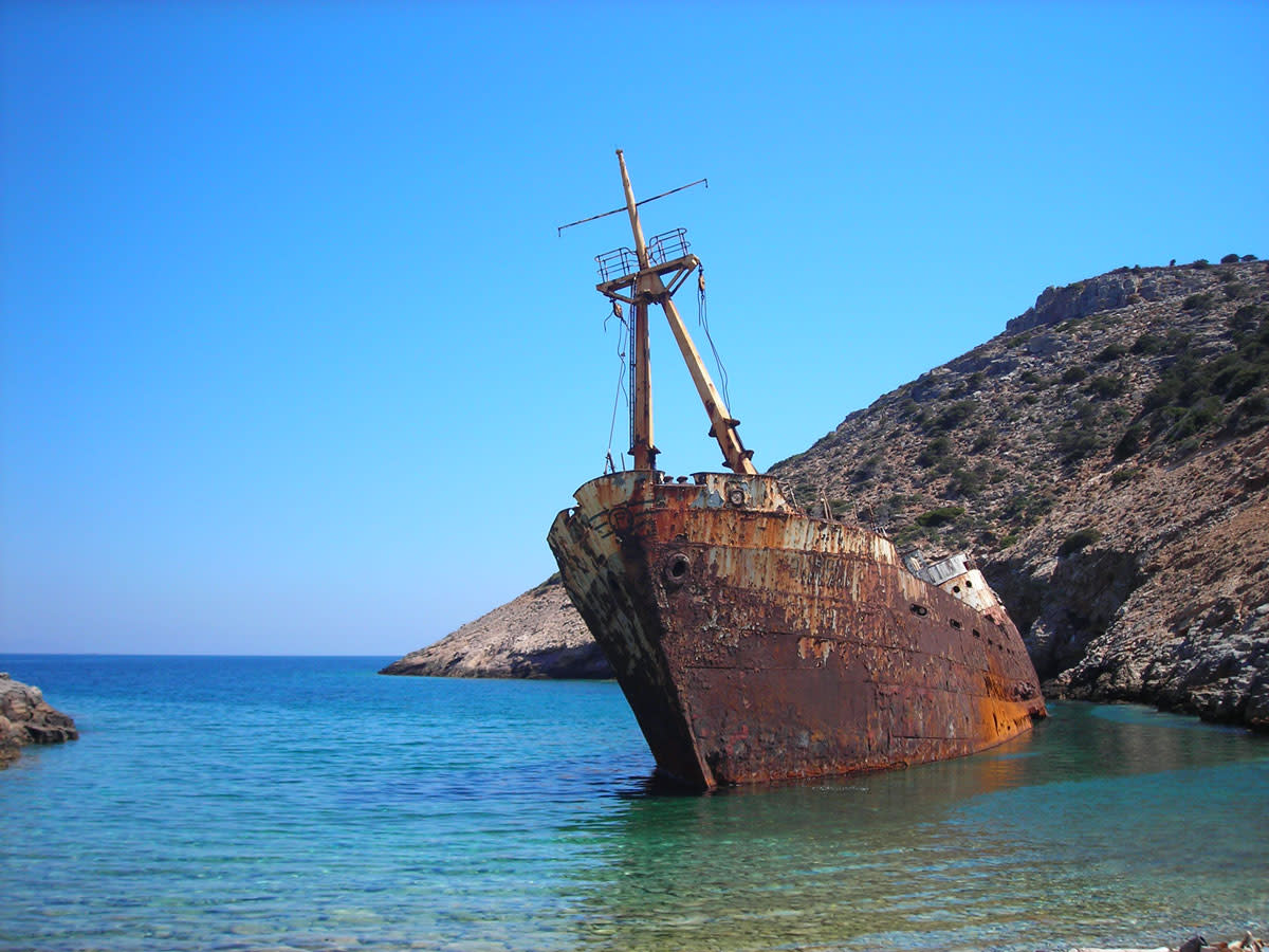 Shipwreck of the Greece ship Olympia