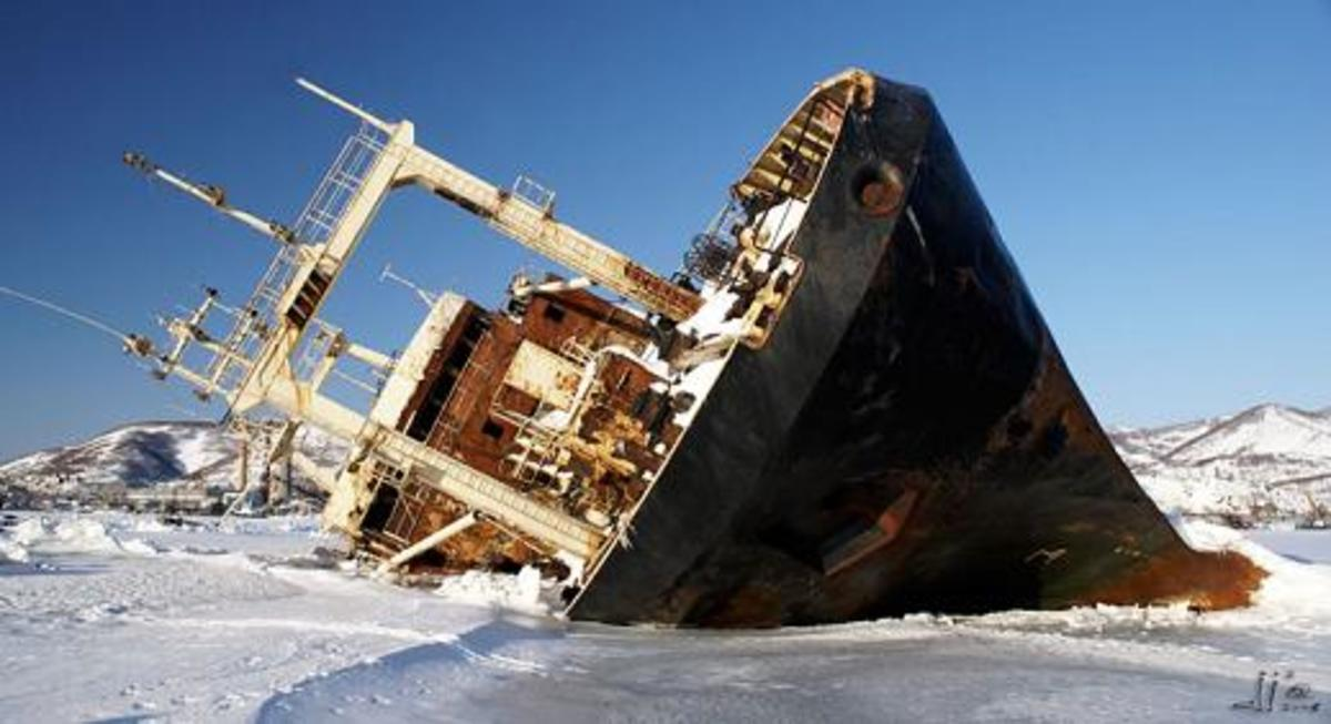 Shipwreck at Antarctica