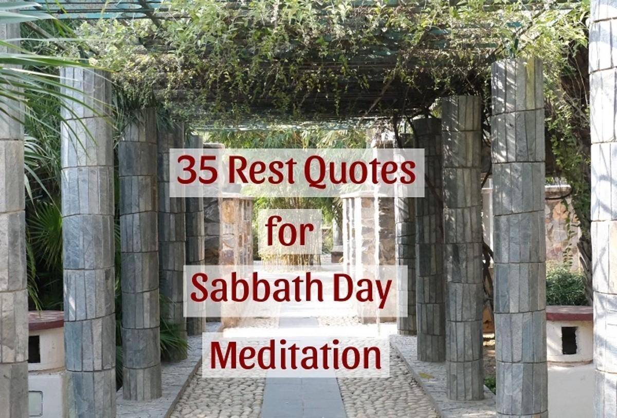 Rest Quotes for Sabbath Meditation