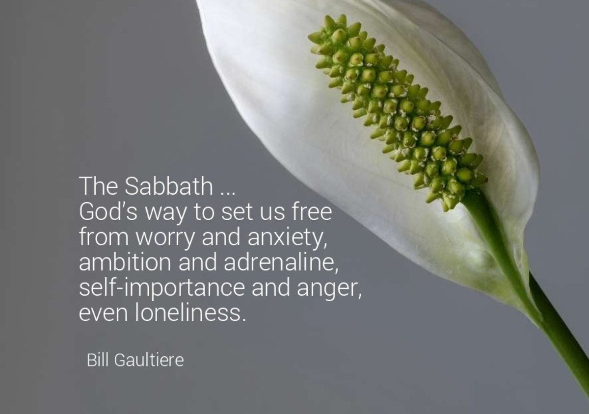 The Sabbath God's way to set us free from worry and anxiety.