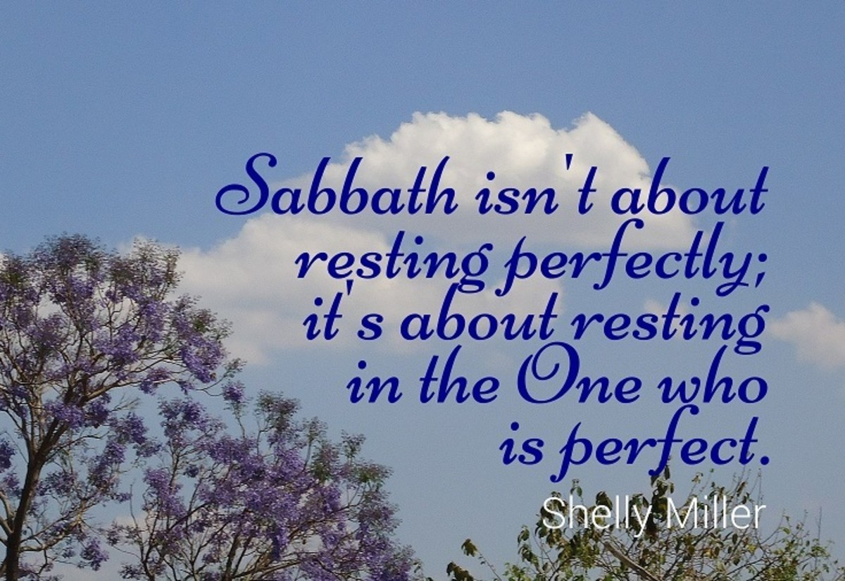 Sabbath isn't about resting perfectly; it's about resting in the One who is perfect.