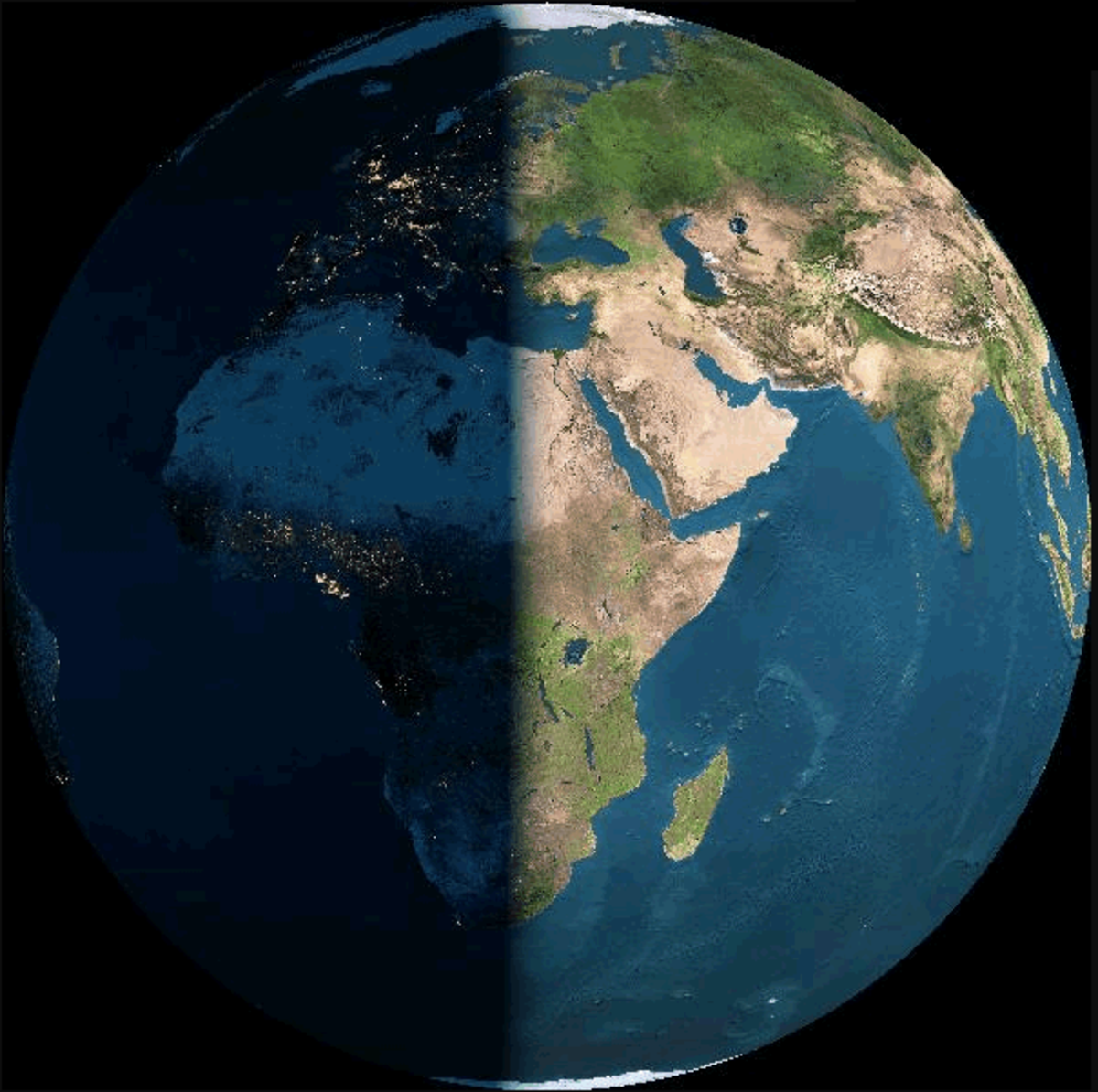 As one area on earth turns toward the sun and enters its light, the sun seems to rise in the east. When a location on earth leaves the sun's light and enters darkness, the sun appears to set in the west.