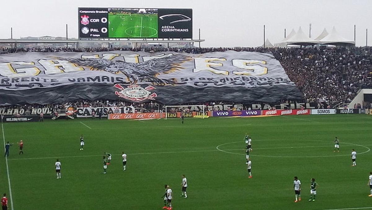 A 2017 Paulista Derby at Arena Corinthians.