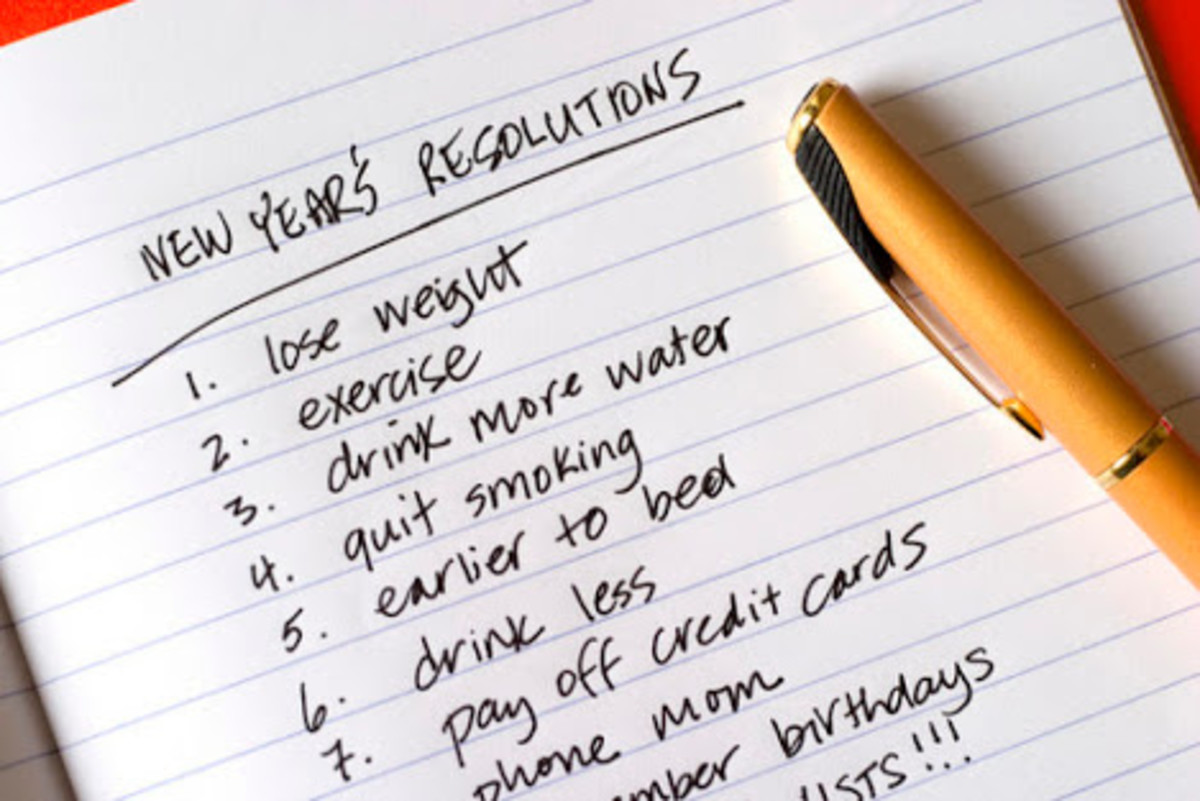 New year resolutions, made to be broken