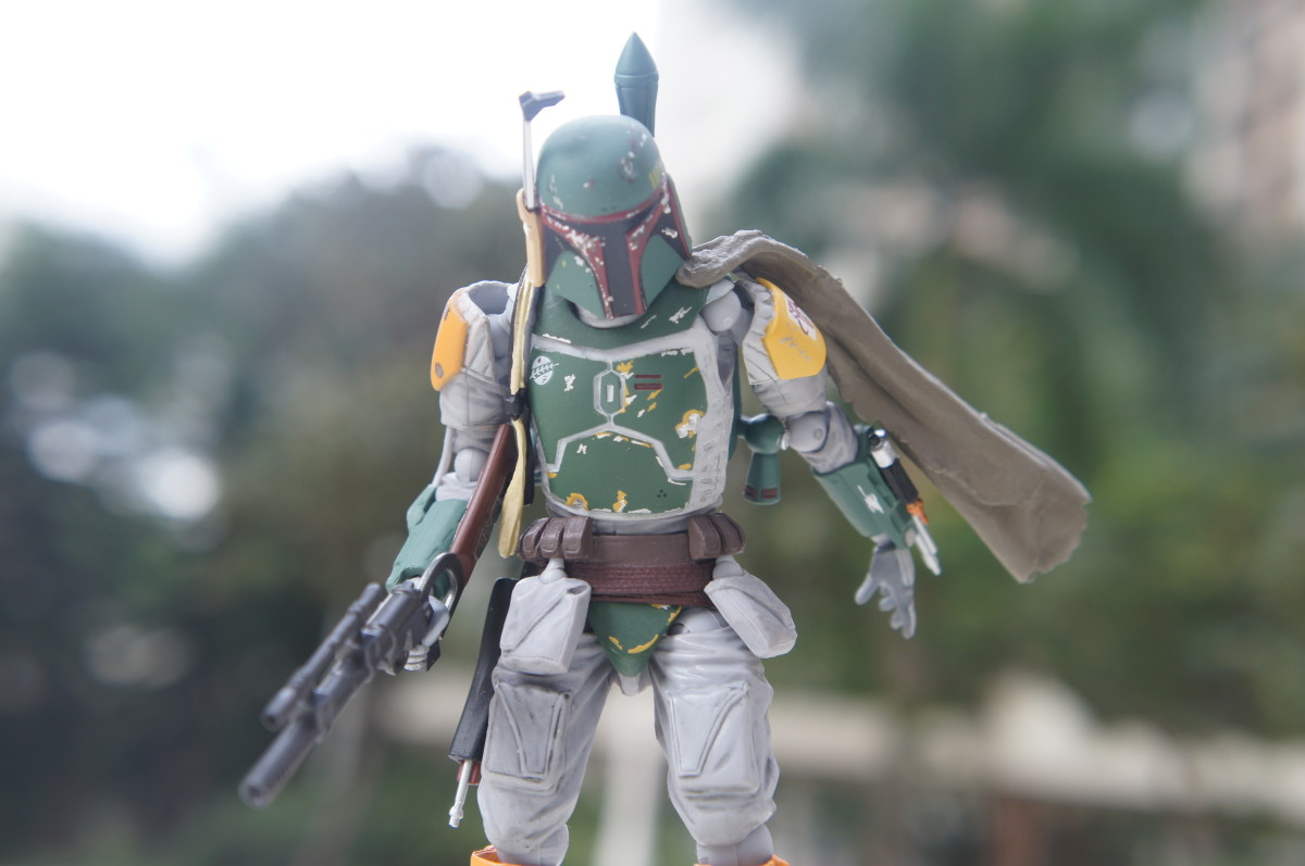 Boba Fett in action figure form.