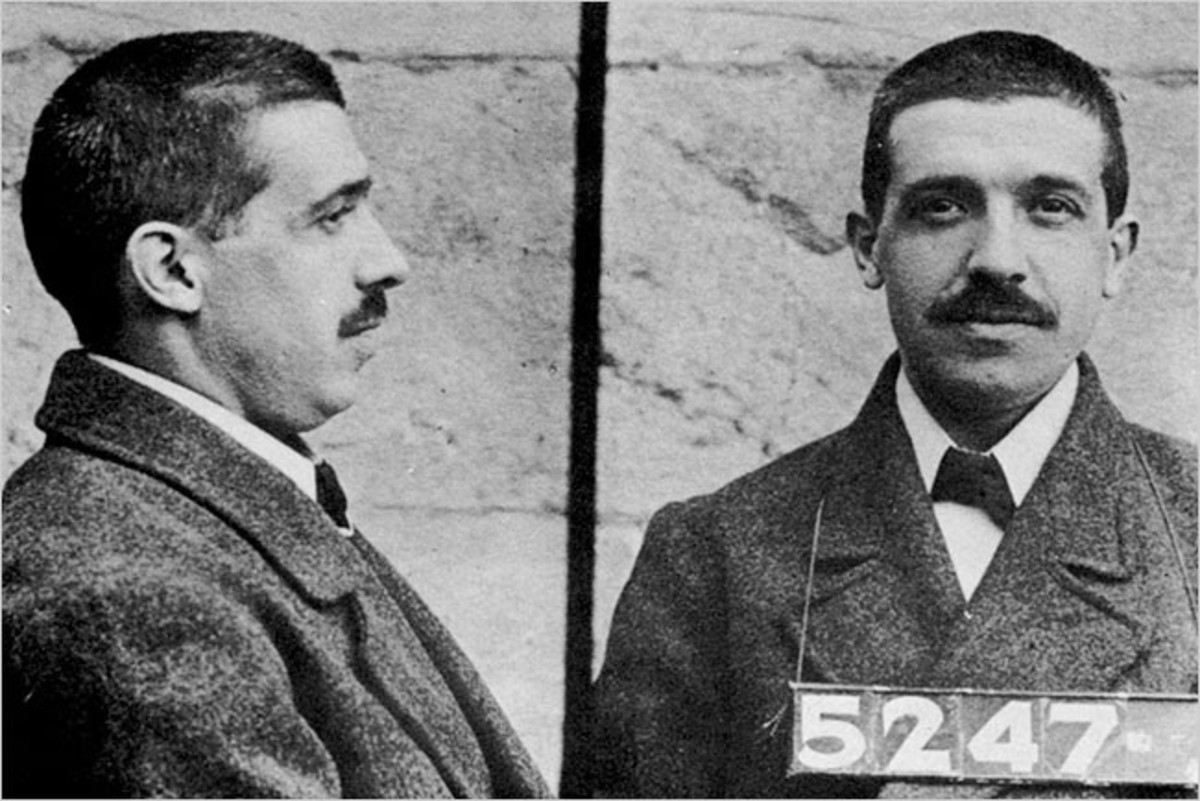 Charles Ponzi after being arrested in Florida