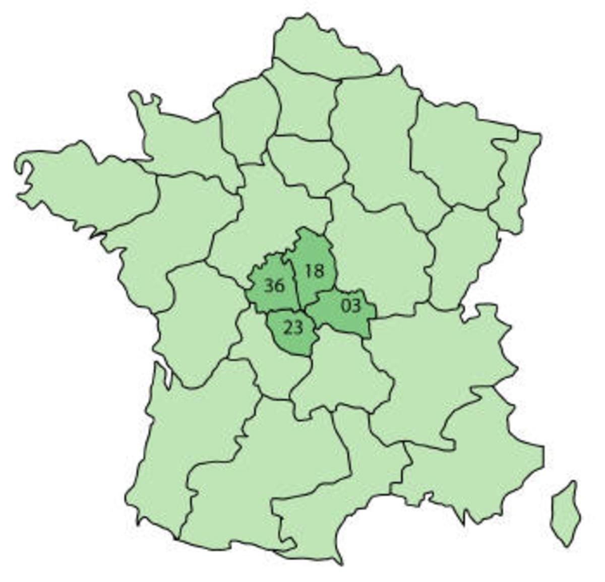Central region 18 = Le Cher