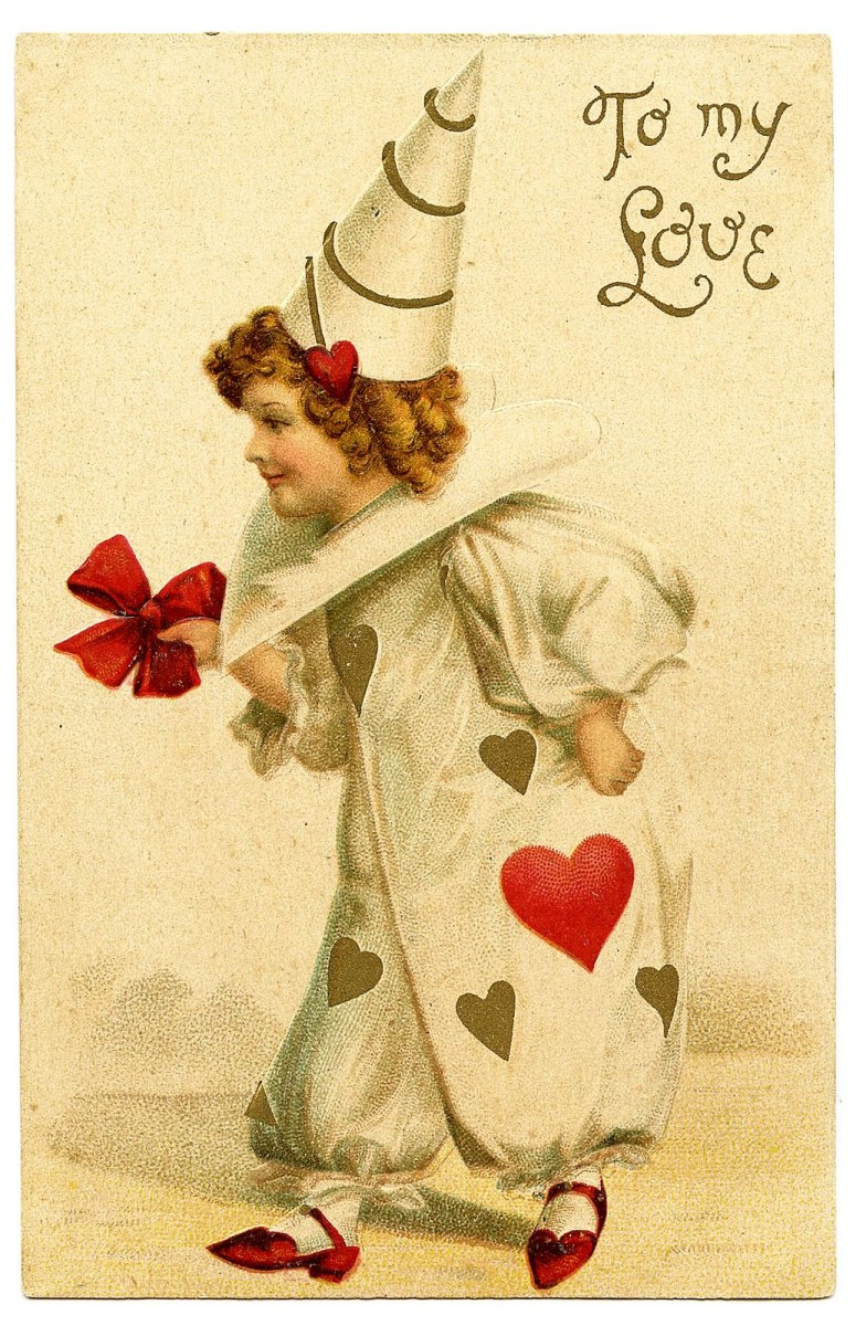 a vintage Valentine's Day card:)