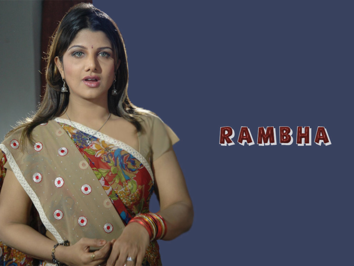 Rambha in a saree