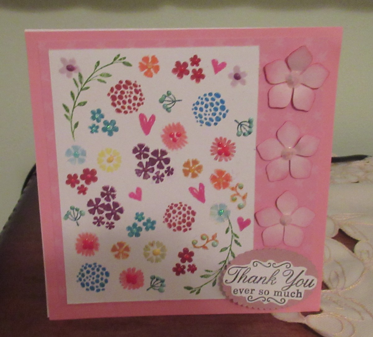 It is so easy to create custom backgrounds as I did on this card with the Misti