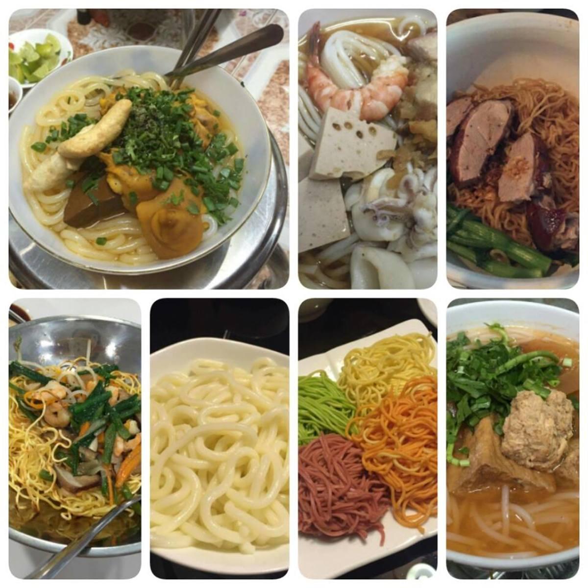 Vietnam abounds in noodles