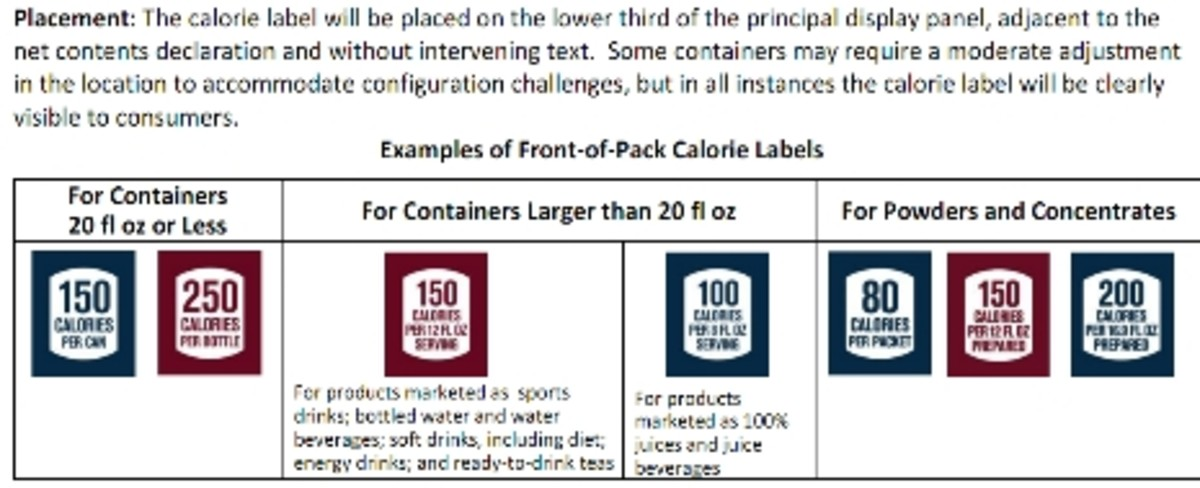 Bold Calories Listed on Packaging Examples