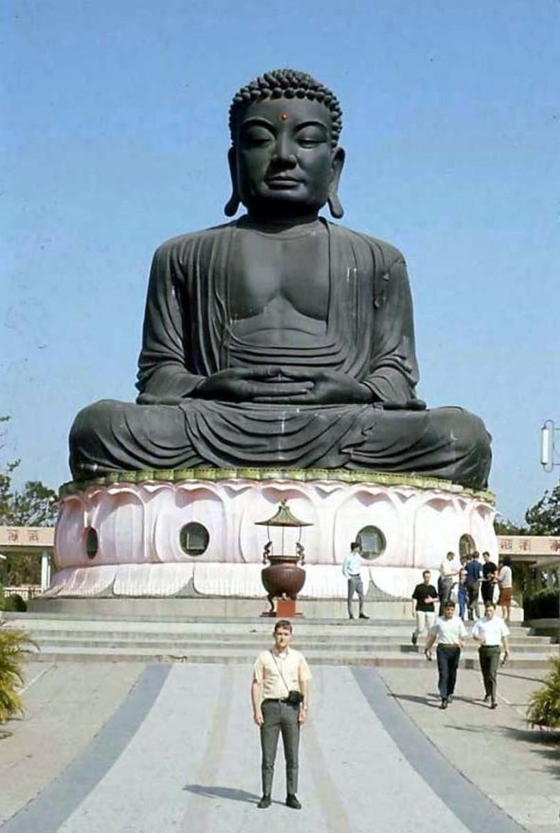 Big Buddha at BaGua Shan in Changhua.  taken in 1969