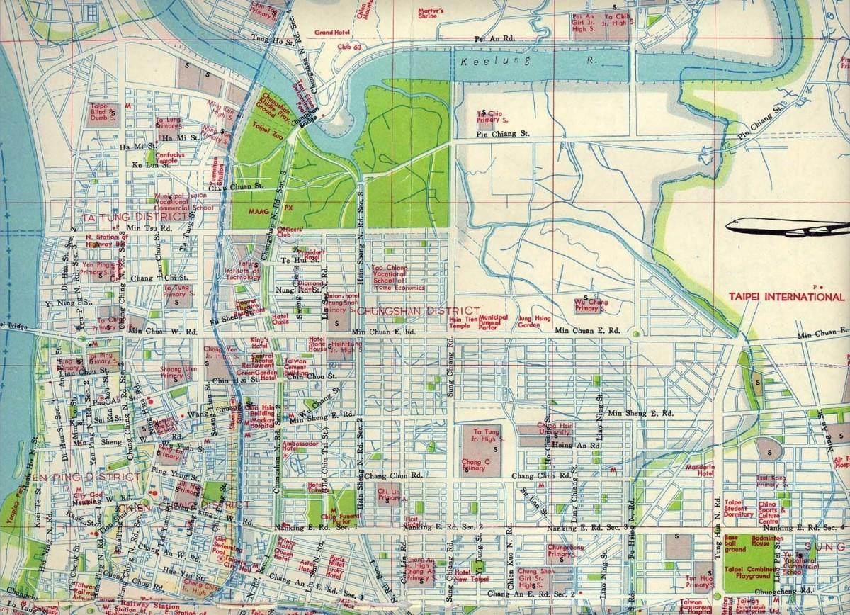 1970 Map of Taipei