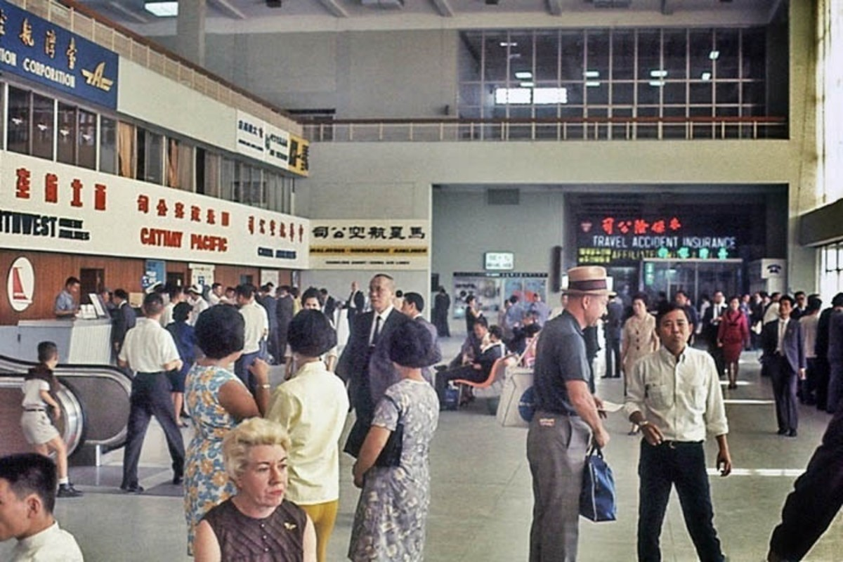 Inside of Songshan Airport around 1970